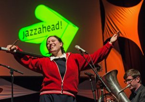 Erika Stucky with Bubbles & Bangs at the opening of jazzahead! in Bremen (c) Ingo Wagner/Messe Bremen