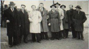 "Gothenburg's first traditional jazz band: ""Hip"" Hot Circle Jazz Band on tour in 1947. Taken from Wågerman 2010:139."