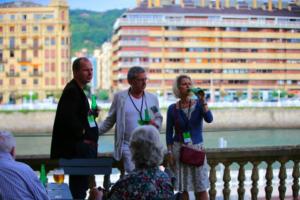 Tony Whyton, George McKay, Emma McKay, 12 Points Festival, San Sebastian